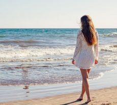 mujer playa